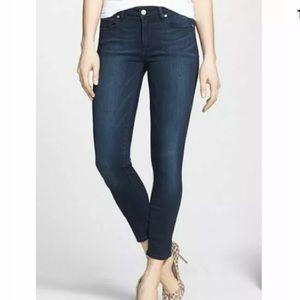Paige Verdugo Crop Jeans Size 28 Dark Wash